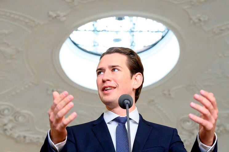 Chanceler austríaco Sebastian Kurz