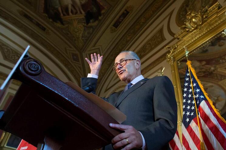 O líder da minoria democrata do Senado dos Estados Unidos, Chuck Schumer