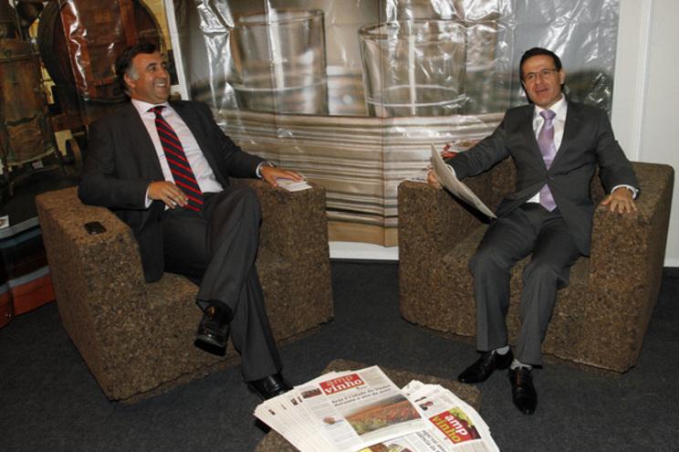 Rui Barreiro, à esquerda, foi secretário de Estado no Ministério liderado por António Serrano