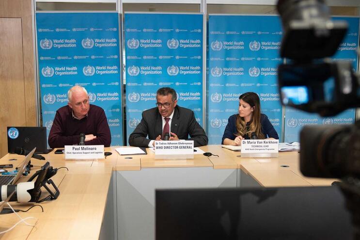 Tedros Adhanom Ghebreyesus deu uma conferência online esta segunda-feira