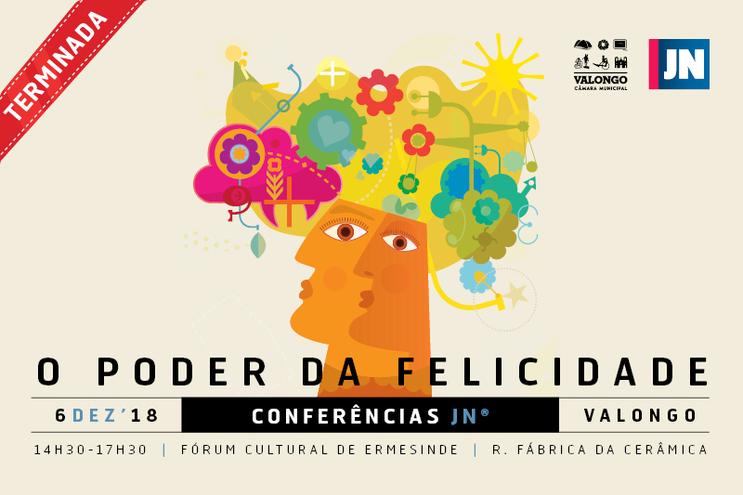 Conferência JN sobre felicidade em Valongo com César Mourão
