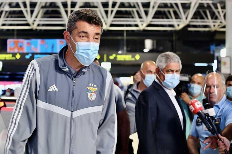 Bruno Lage e Luis Filipe Vieira acertaram rescisão