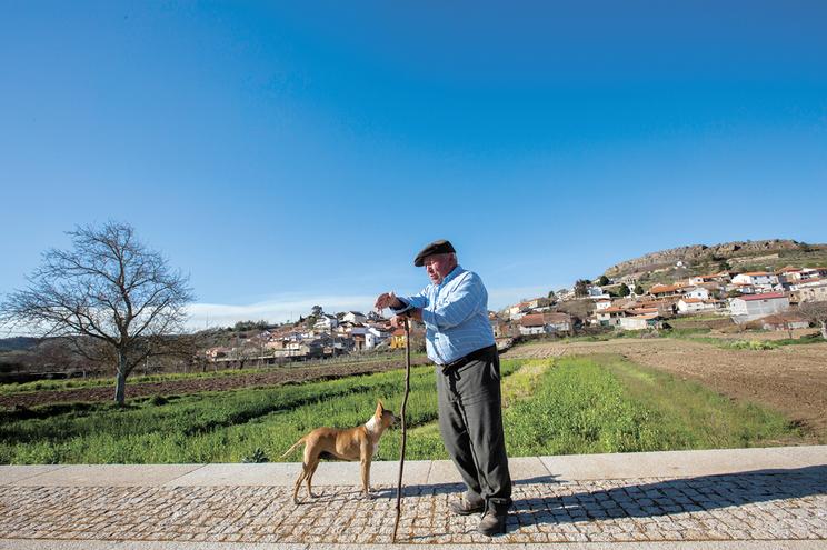 Amândio Ferreira, 79 anos, habitante de Veiga de Lila