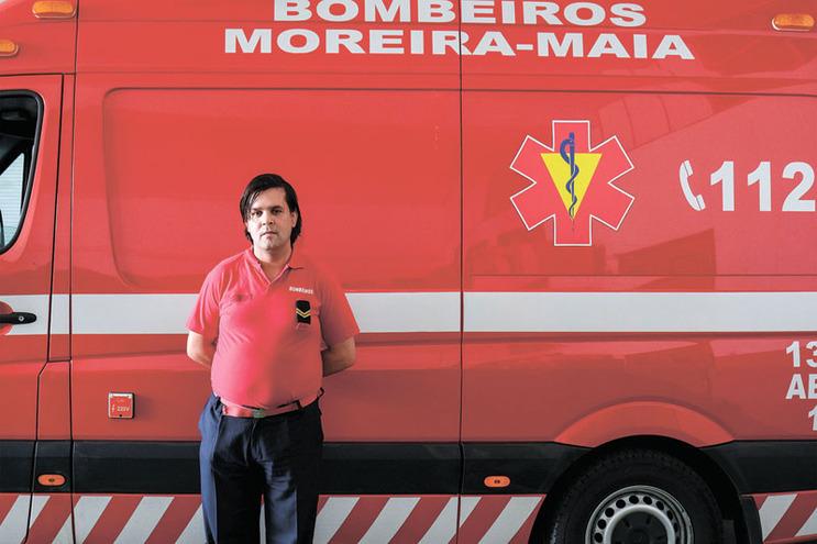 Rogério Moreira é bombeiro nos Voluntários de Moreira da Maia há 13 anos