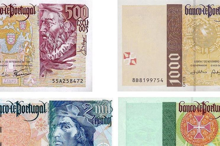 Há notas de escudo a valerem seis mil euros. Veja se tem uma delas