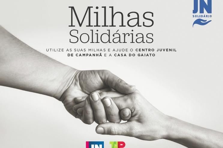 """""""Milhas solidárias"""" da TAP para aquecer o Natal com o """"JN Solidário"""""""