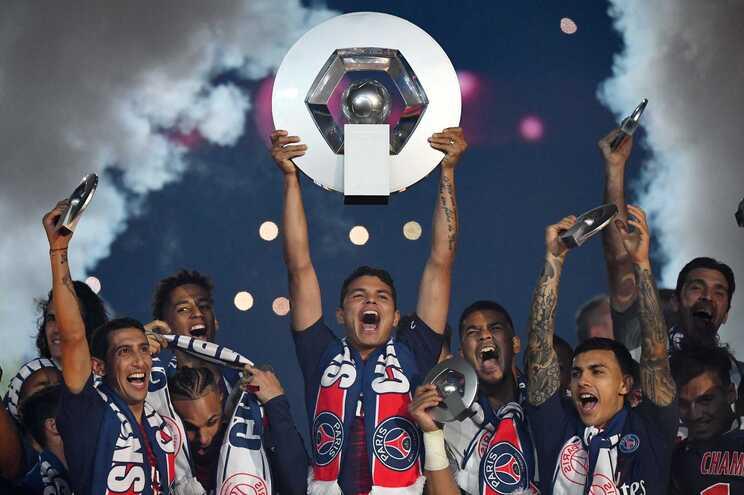 Festa do título do PSG, em 2019
