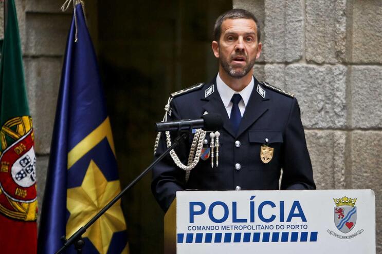 Paulo Lucas, comandante da PSP do Porto, no dia da sua tomada de posse
