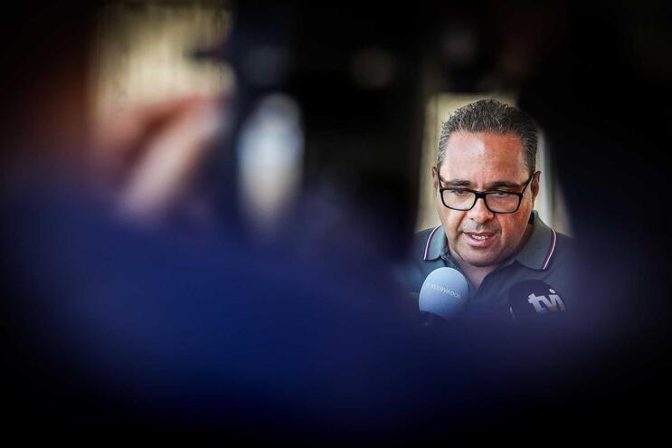 O advogado e porta-voz do sindicato nacional dos motoristas, Pardal Henriques