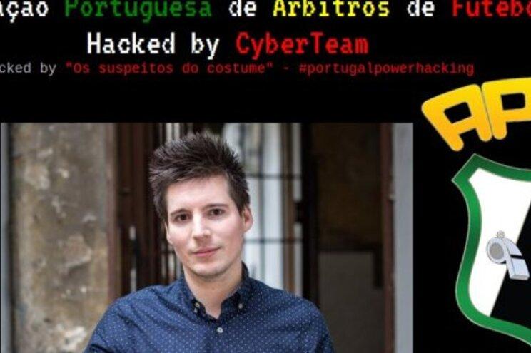 """Site da associação de árbitros """"pirateado"""" com imagem de apoio a Rui Pinto"""