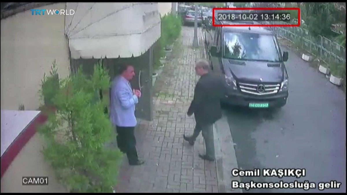 Jamal Khashoggi filmado por câmara de vigilância a entrar no consulado saudita em Istambul