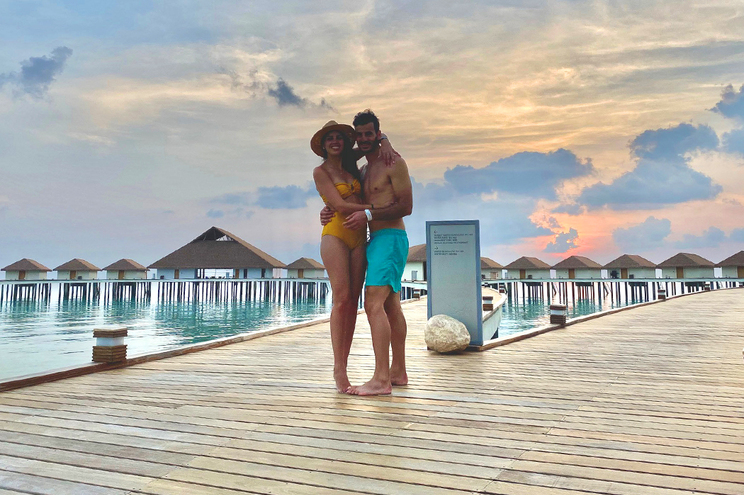 Olívia e Raul de Freitas nas Maldivas