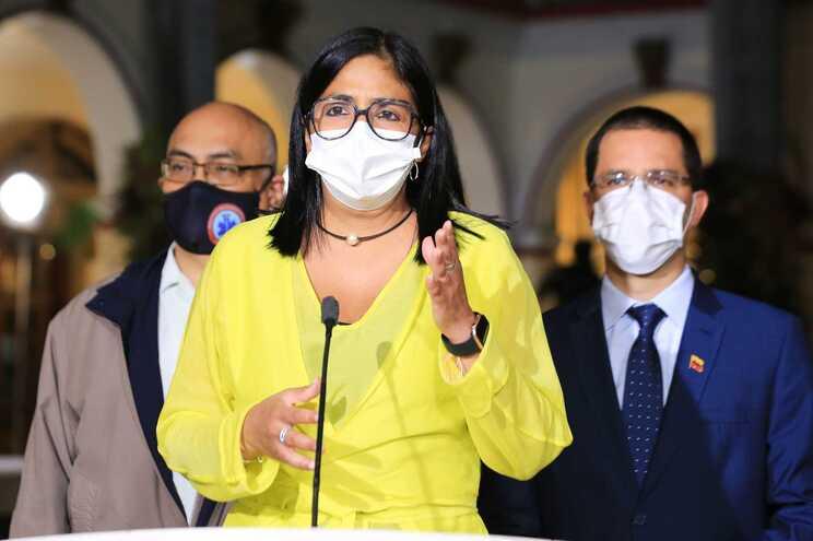 A vice-Presidente da Venezuela, Delcy Rodríguez