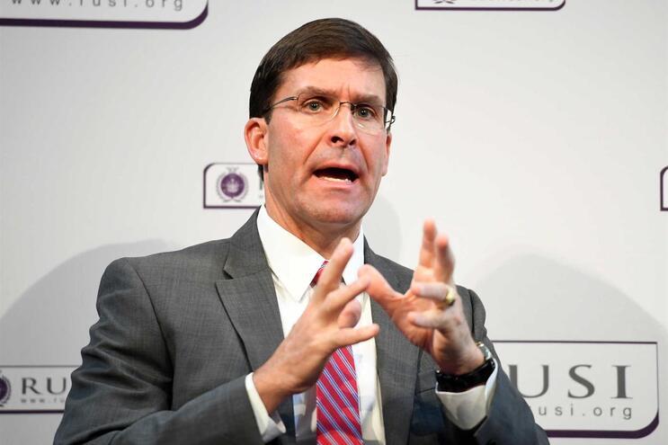 O secretário de Defesa norte-americano, Mark Esper
