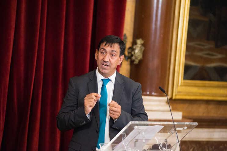 O presidente da Federeção de Ciclismo, Delmino Pereira