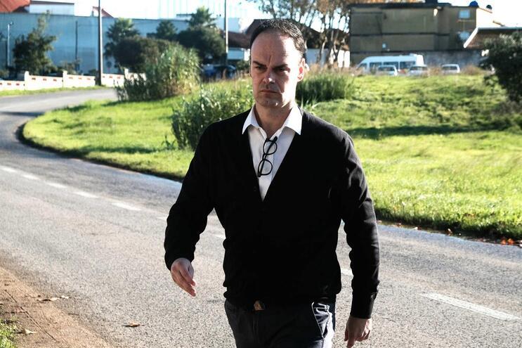Bruno Jacinto à chegada ao tribunal