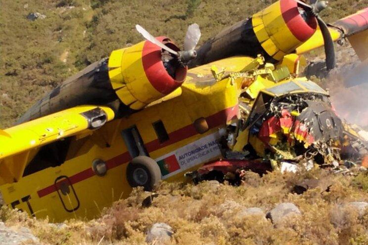O Canadair caiu enquanto combatia um incêndio na zona do Parque Nacional da Peneda-Gerês, em agosto