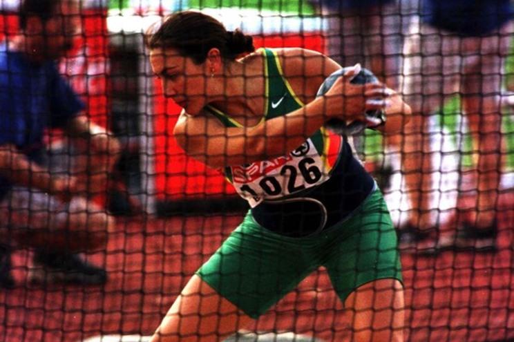 Teresa Machado durante a final do lancamento do disco do Campeonato Europeu de Atletismo, esta tarde