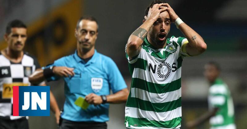 Bruno Fernandes marca e é expulso no empate do Sporting no Bessa