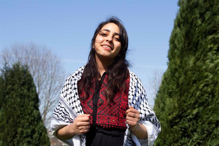 Maysoum Nakhla, estudante palestiniana a viver no Porto