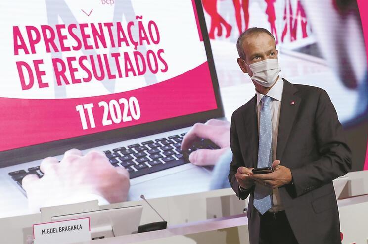 Miguel Maya, presidente-executivo do BCP, apresentou as contas à imprensa e com transmissão online