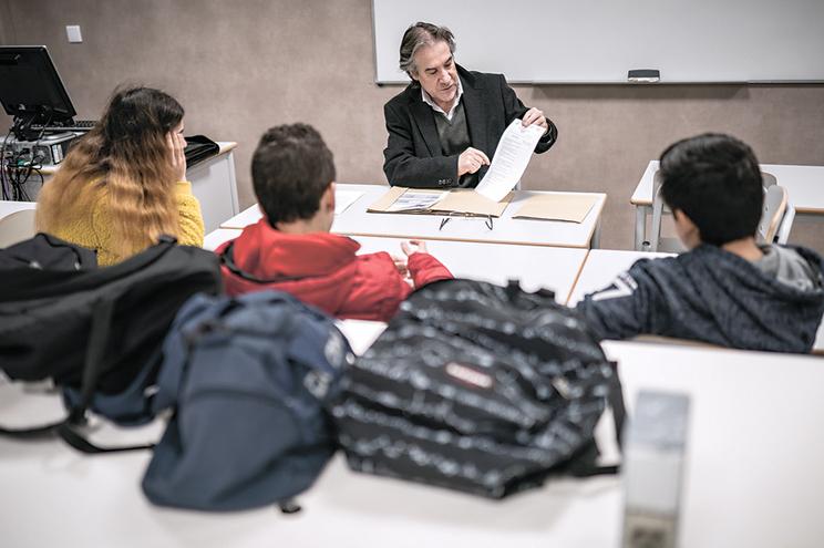 Coordenador e professor tutor de alunos na EB 2,3 de Amares, Alfredo Cerqueira