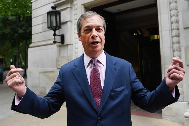 Líder do Partido do Brexit Nigel Farage