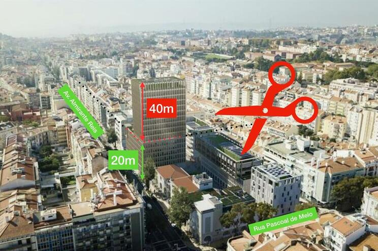 Movimento contesta construção de edifício com 60 metros de altura