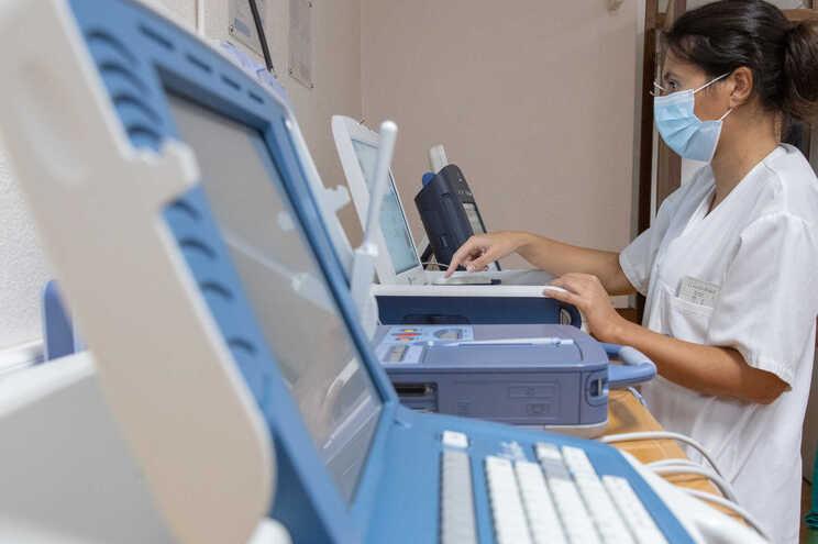 Sala de monitorização do serviço de Cardiologia do Hospital de Santa Marta