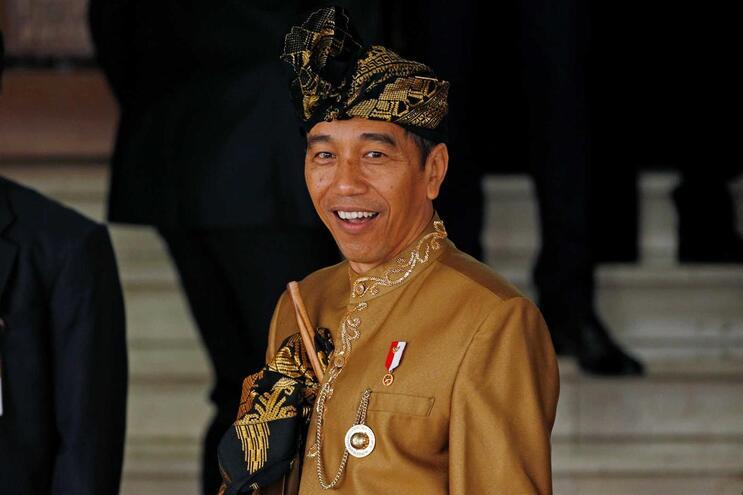 O Presidente indonésio Joko Widodo