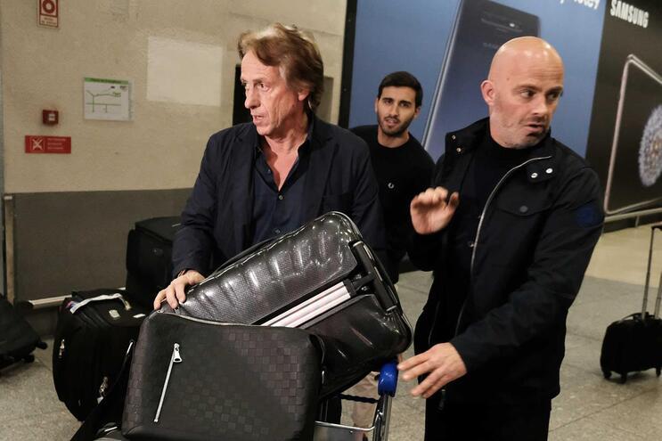 Chegada de Jorge Jesus ao Aeroporto Humberto Delgado, Lisboa