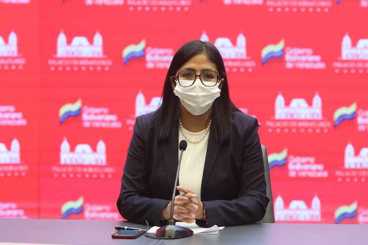 A vice-presidente da Venezuela, Delcy Rodriguez