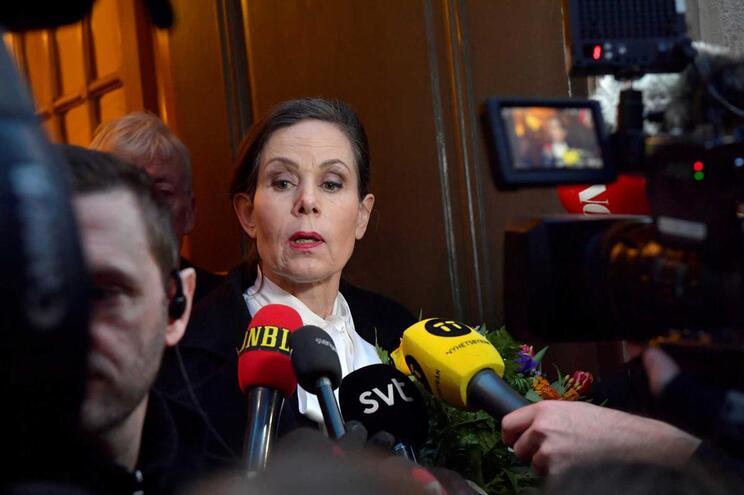 A secretária da Academia Sueca que anuncia o Nobel da Literatura, Sara Danius