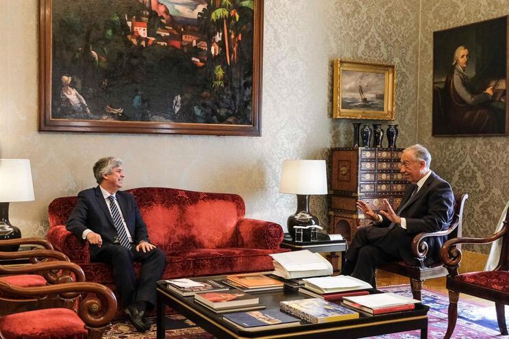 O Presidente da República recebeu em audiência o Ministro das Finanças, Mário Centeno
