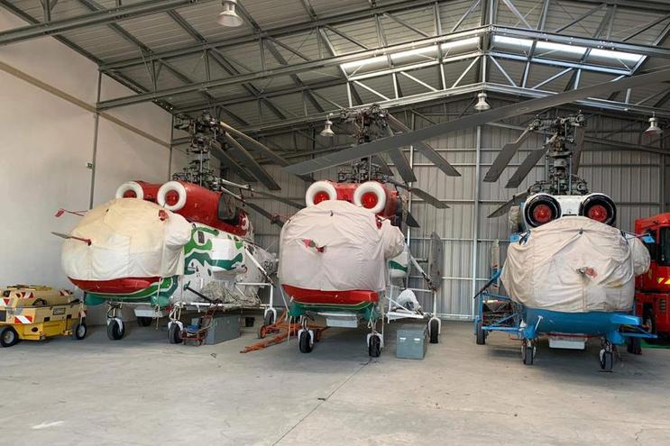 Três helicópteros Kamov estiveram parados desde 1 de julho