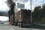 Camião arde no acesso à A1 perto das portagens dos Carvalhos