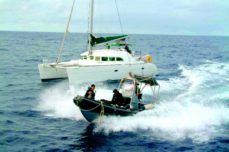 """O catamarã de """"Nano"""" foi detetado no Atlântico, entre os Açores e a Galiza"""