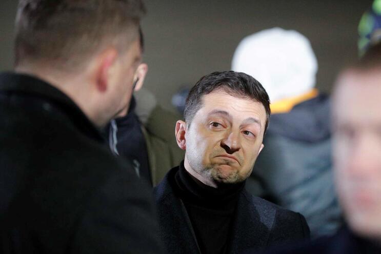 O presidente ucraniano, Volodymyr Zelensky