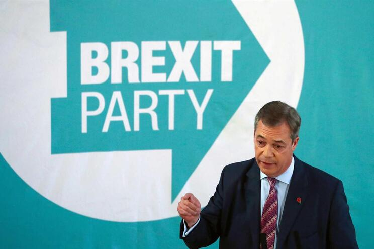 Líder do partido do Brexit, Nigel Farage