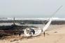 Veleiro encalhou em praia de Vila do Conde