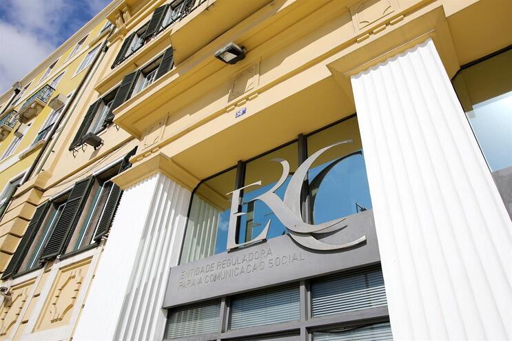 Fachada do edifício sede da ERC, em Lisboa