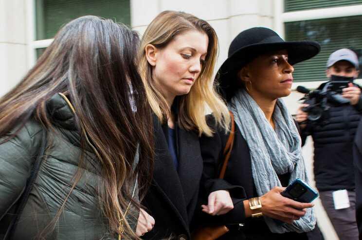 Linda Chung, Nicki Clyne e Michelle Hatchette, ex-membros da seita