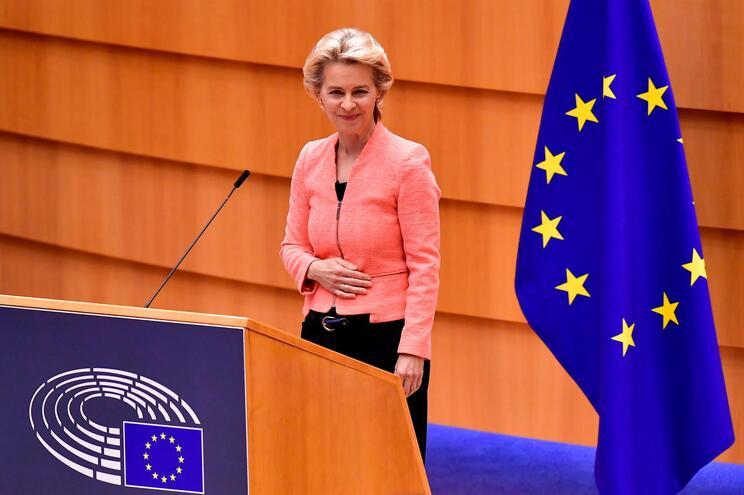 A presidente da Comissão Europeia, Ursula von der Leyen,