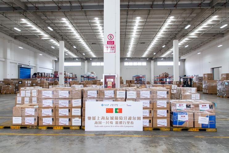 Cerimónia de doação dos equipamentos decorreu esta quarta-feira em Xangai
