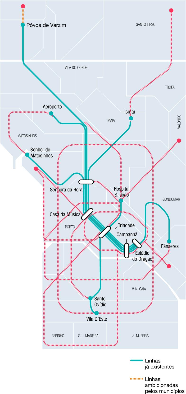 Municípios vão receber milhões para alargar linha do metro