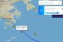 Registo da partida de Hong Kong, no site PlaneFinder