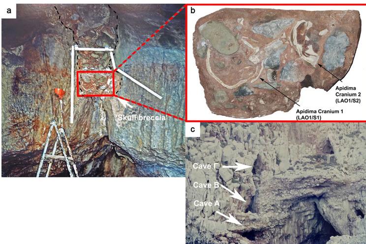 Localização dos esqueletos encontrados