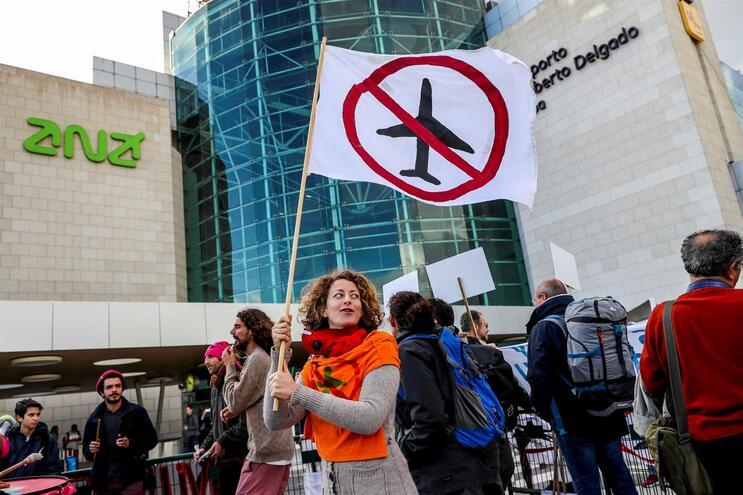 Manifestação em Lisboa contra a construção do novo aeroporto