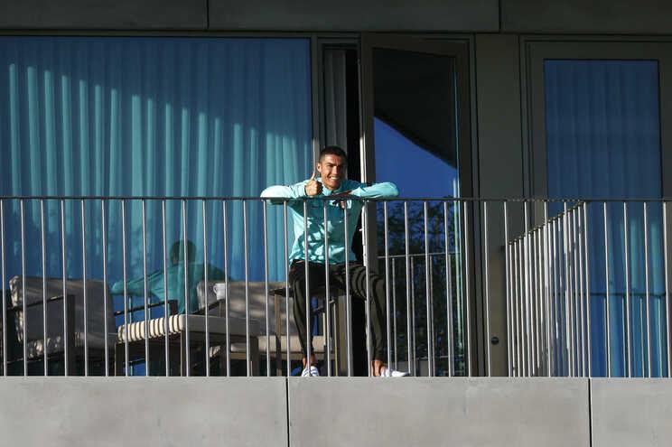 Cristiano Ronaldo na Cidade do Futebol
