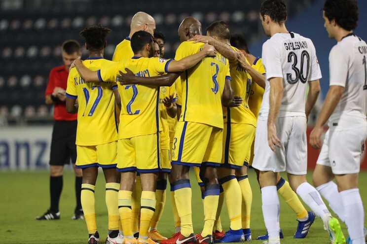 Jogadores do Al Nassr festejam um golo
